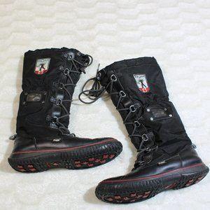 Pajar women size 9 winter snow boots mid calf blac